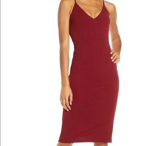 Lulu's Red Body-Con Dress
